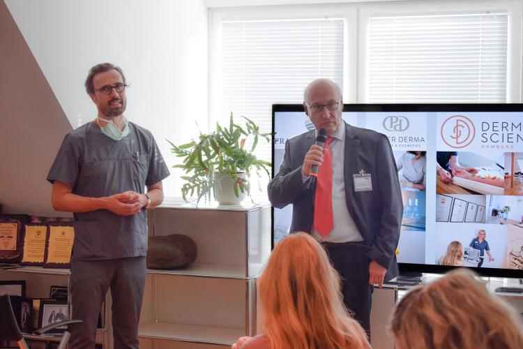 Dr. Welf Prager und Dr. Achim Juse beim Riemser Hylase-Workshop in Hamburg